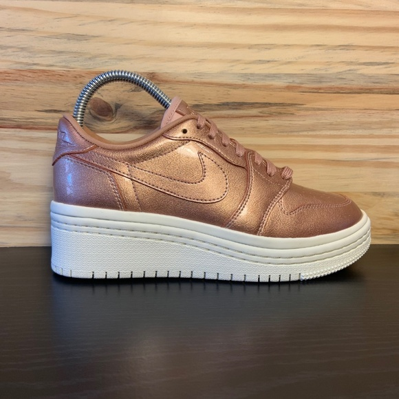 half off abd37 9a464 New Nike Air Jordan 1 Retro Low Lifted Heel Bronze NWT